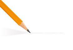 Pencil draws a straight line Stock Images