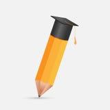Pencil Education Cap Graduation Symbol Vector Royalty Free Stock Image