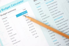 Pencil on education document. Stock Images