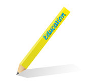 Pencil education illustration design Stock Photography