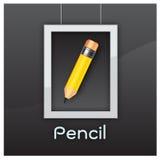 Pencil education yellow black vector design Royalty Free Stock Photography