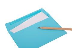 Pencil on Envelope Stock Image