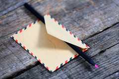 Pencil in an envelope Stock Image