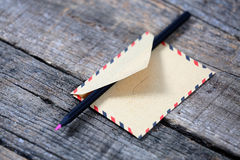 Pencil in an envelope Royalty Free Stock Photo