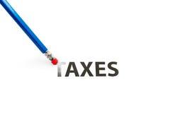 PENCIL-ERASER和税 免版税库存图片