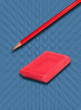 Pencil and eraser Royalty Free Stock Photos