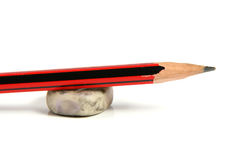 Pencil and eraser Royalty Free Stock Image