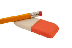Pencil and eraser stock photo