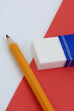 Pencil and eraser Stock Image