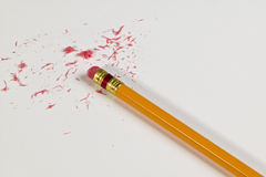 Pencil and eraser Stock Photo