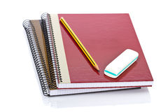 Pencil and eraser Royalty Free Stock Photo