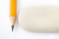 Pencil and eraser Stock Photos