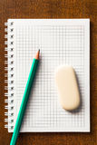 The pencil and eraser Stock Photo