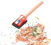 Pencil Eraser and pencil sharpener Royalty Free Stock Image