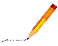 Pencil with eraser Royalty Free Stock Photo