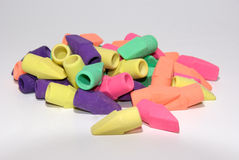 Pencil Erasers Royalty Free Stock Photography