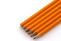 Pencil evolution royalty free stock photo