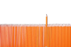 Pencil fence Royalty Free Stock Photography