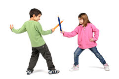 Pencil fight Royalty Free Stock Photo