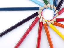 Pencil figure Royalty Free Stock Image