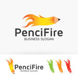 Pencil Fire Stock Images