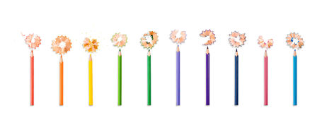 Pencil flowers Stock Photos