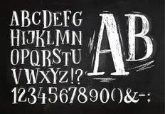 Pencil font alphabet Royalty Free Stock Image