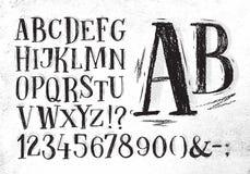 Pencil font black alphabet Royalty Free Stock Photo