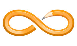 Pencil in the form of an infinity sign Royalty Free Stock Photos