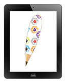 Pencil of frame. On white background Royalty Free Stock Photos