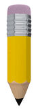 Pencil. Front view of a big and short pencil (3d render Royalty Free Stock Photo