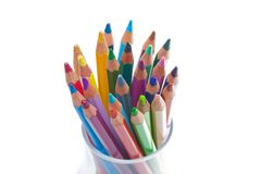 Pencil in glass royalty free stock photo