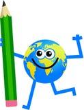 Pencil globe Stock Photo