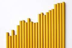Pencil Graph Royalty Free Stock Photography