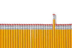 Pencil Graph Isolated on White Royalty Free Stock Image