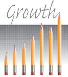 Pencil-graph.jpg ilustração do vetor