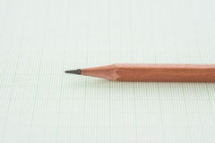 Pencil and graph paper Royalty Free Stock Photos
