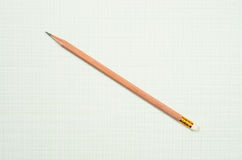 Pencil and graph paper Royalty Free Stock Photo
