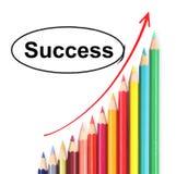 Pencil graph. Set of color pencil showing a graph Stock Image