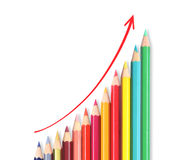 Pencil graph stock market Stock Image