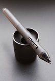 Pencil graphics for tablet and holder for it Royalty Free Stock Photography