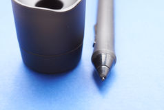 Pencil graphics for tablet and holder for it Stock Photo