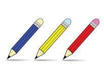 Pencil. The pencil on a gray background Royalty Free Stock Image