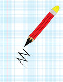 Pencil. The pencil on a gray background Royalty Free Stock Photos