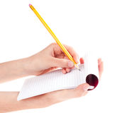 Pencil in hand Royalty Free Stock Image