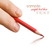 Pencil in hand Royalty Free Stock Images