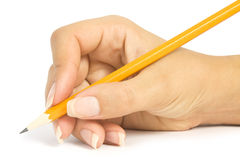 Pencil in a hand Royalty Free Stock Images