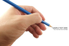 The pencil in hand Royalty Free Stock Photos