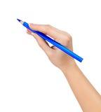 Pencil in hand Stock Photos