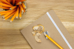 Pencil that has been sharpened Stock Photography